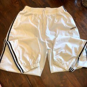 Vintage Men's adidas White Nylon Jogger Pants
